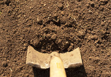 οριζόντιο φτυάρι ρύπου Στοκ φωτογραφία με δικαίωμα ελεύθερης χρήσης