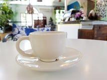 Ορισμένο αποθεμάτων φλυτζάνι καφέ φωτογραφίας άσπρο Στοκ φωτογραφία με δικαίωμα ελεύθερης χρήσης