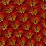 Ορισμένο φτερό υπόβαθρο με τις κυρτές γραμμές που ορίζονται ως εξωτικό σχέδιο φτερώματος πουλιών Διανυσματική απεικόνιση