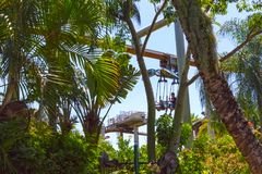 Ορλάντο, Φλώριδα - 9 Μαΐου 2018: Ιουρασικό πάρκο στα νησιά UNIVERSAL STUDIO του θεματικού πάρκου περιπέτειας Στοκ Φωτογραφία