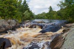 Ορμητικά σημεία ποταμού αγριοτήτων Στοκ φωτογραφίες με δικαίωμα ελεύθερης χρήσης