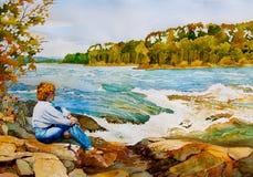 ορμητικά σημεία ποταμού εν Στοκ Εικόνες