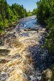 Ορμητικά σημεία ποταμού ποταμών περιστεριών Στοκ φωτογραφία με δικαίωμα ελεύθερης χρήσης