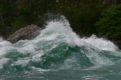 Ορμητικά σημεία ποταμού πτώσεων Niagra Στοκ Φωτογραφίες