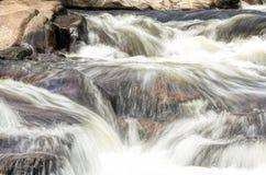Ορμητικά σημεία ποταμού σε ένα ρεύμα έξω από το λίθο, Κολοράντο στοκ εικόνες