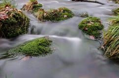 Ορμητικά σημεία ποταμού σε Jizera Στοκ φωτογραφία με δικαίωμα ελεύθερης χρήσης