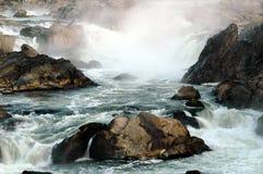 Ορμητικά σημεία ποταμού στις μεγάλες πτώσεις, MD Στοκ φωτογραφία με δικαίωμα ελεύθερης χρήσης