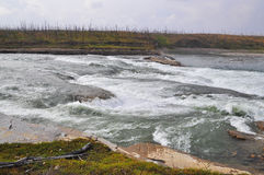 Ορμητικά σημεία ποταμού στο οροπέδιο Putorana Στοκ Εικόνες