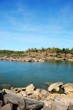 Ορμητικά σημεία ποταμού της Tana Στοκ Εικόνες