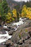 Ορμητικά σημεία ποταμού του κολπίσκου παγακιών Στοκ Φωτογραφία