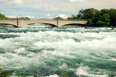 Ορμητικά σημεία ποταμού Niagara Στοκ Εικόνα