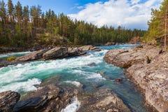 Ορμητικά σημεία ποταμού Oppland Νορβηγία Σκανδιναβία ποταμών Sjoa στοκ φωτογραφίες με δικαίωμα ελεύθερης χρήσης
