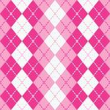 Ορμούμενο Argyle στο ροζ και το λευκό Στοκ φωτογραφία με δικαίωμα ελεύθερης χρήσης