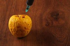 Ορμόνη Apple στο ξύλο Στοκ φωτογραφία με δικαίωμα ελεύθερης χρήσης