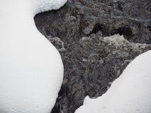 Ορμώντας νερό και χιόνι Στοκ εικόνα με δικαίωμα ελεύθερης χρήσης