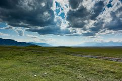 Οροπέδιο στα βουνά Ketmen, Καζακστάν Στοκ Εικόνα