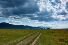 Οροπέδιο στα βουνά Ketmen, Καζακστάν Στοκ εικόνα με δικαίωμα ελεύθερης χρήσης
