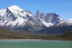 Οροσειρά Paine Torres del Paine στο National πάρκο Χιλή στοκ εικόνα