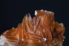 Ορυκτά κρύσταλλα Vanadinite από το Μαρόκο Στοκ εικόνα με δικαίωμα ελεύθερης χρήσης