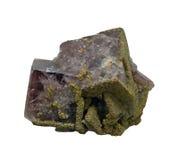 Ορυκτός φθορίτης σε ένα άσπρο υπόβαθρο, που απομονώνεται Στοκ φωτογραφία με δικαίωμα ελεύθερης χρήσης