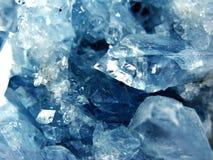 Ορυκτό γεωλογικό υπόβαθρο χαλαζία κρυστάλλου πολύτιμων λίθων Aquamarine Στοκ Φωτογραφία