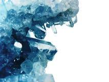 Ορυκτό γεωλογικό υπόβαθρο χαλαζία κρυστάλλου πολύτιμων λίθων Aquamarine Στοκ εικόνα με δικαίωμα ελεύθερης χρήσης