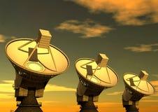 δορυφόρος 2 πιάτων Στοκ Εικόνες