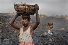 ορυχεία της Ινδίας άνθρακ Στοκ εικόνες με δικαίωμα ελεύθερης χρήσης