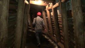 Ορυχεία, Mineshafts, σήραγγες, σπηλιές, σπήλαια απόθεμα βίντεο