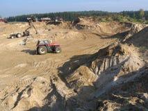 ορυχείο αμμοχάλικου Στοκ Φωτογραφίες