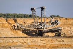 Ορυχείο ανοικτών κοιλωμάτων εκσκαφέων μεταλλείας ροδών στοκ φωτογραφίες με δικαίωμα ελεύθερης χρήσης