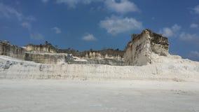 Ορυχείο ασβεστίου στο βουνό κιμωλίας στοκ εικόνα