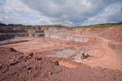 Ορυχείο λατομείων porphyry του βράχου τρυπάνι σε ένα ορυχείο στοκ εικόνες