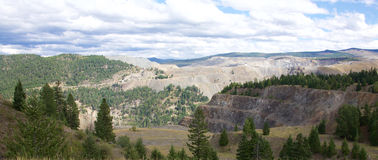 Ορυχείο βουνών χαλκού Στοκ εικόνες με δικαίωμα ελεύθερης χρήσης