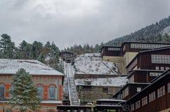 Ορυχείο βουνών Rammelsberg, περιοχή παγκόσμιων κληρονομιών της ΟΥΝΕΣΚΟ, Goslar, Γερμανία Στοκ φωτογραφία με δικαίωμα ελεύθερης χρήσης