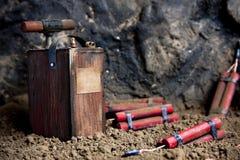 ορυχείο δυναμίτη εκπυρ&sigm Στοκ Εικόνα