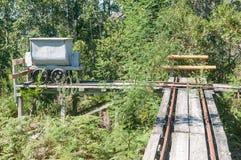 Ορυχείο-κάρρο και διαδρομή στο ορυχείο χρυσού Bendigo στοκ εικόνες