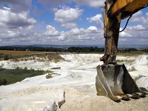 Ορυχείο καολίνη Στοκ φωτογραφία με δικαίωμα ελεύθερης χρήσης
