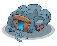 Ορυχείο μεταλλεύματος κινούμενων σχεδίων Στοκ φωτογραφία με δικαίωμα ελεύθερης χρήσης