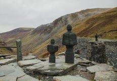 Ορυχείο πλακών Honister σε Cumbria, Αγγλία, το UK - τα αγάλματα στοκ φωτογραφία