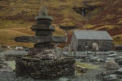 Ορυχείο πλακών Honister, Cumbria, Αγγλία - ένα σπίτι πλακών στοκ φωτογραφίες
