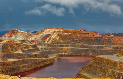Ορυχείο του Ρίο Tinto τη θυελλώδη ημέρα Στοκ εικόνα με δικαίωμα ελεύθερης χρήσης