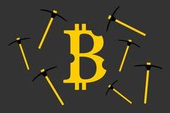 Ορυχείο το bitcoin ελεύθερη απεικόνιση δικαιώματος
