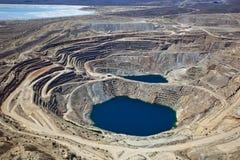 Ορυχείο χαλκού ανοικτών κοιλωμάτων Στοκ εικόνα με δικαίωμα ελεύθερης χρήσης
