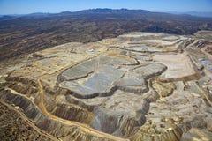 Ορυχείο χαλκού ανοικτών κοιλωμάτων στοκ φωτογραφία με δικαίωμα ελεύθερης χρήσης
