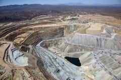 Ορυχείο χαλκού ανοικτών κοιλωμάτων στοκ εικόνα