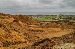 Ορυχείο χαλκού βουνών Parys, Anglesey, βόρεια Ουαλία στοκ εικόνα