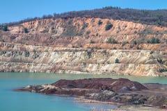 Ορυχείο χαλκού κοντά σε Elshitsa, Βουλγαρία Στοκ Φωτογραφίες