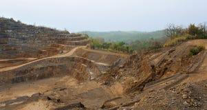 Ορυχείο ψευδάργυρου Υπόβαθρο να εξαγάγει βιομηχανικό Στοκ εικόνες με δικαίωμα ελεύθερης χρήσης