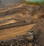 Ορυχείο ψευδάργυρου Υπόβαθρο να εξαγάγει το βιομηχανικό τοπίο Στοκ Φωτογραφίες